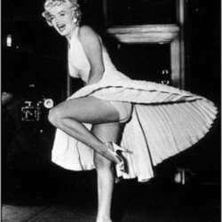 Marilyn was not afraid of a light weight workout.