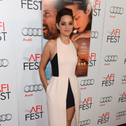 Marion Cotillard looked simple and stylish