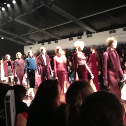 The final walk at Marios Schwab