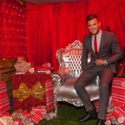 Mark Wright played Santa for the day.