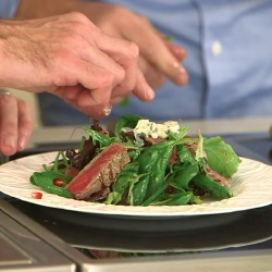 VIDEO: Matt Dawson's Warm Steak and Roquefort Salad Recipe