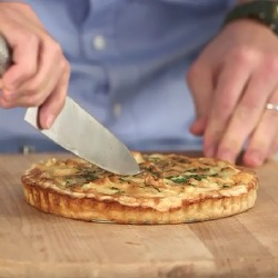 VIDEO: Matt Dawson's Smoked Haddock and Two Cheese Tart Recipe