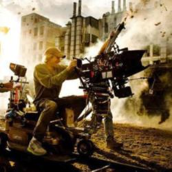 Michael Bay On Transformers Set