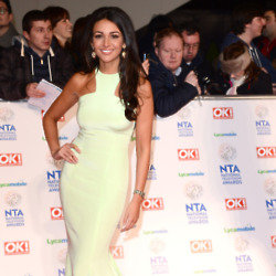 Michelle Keegan looked beautiful in her green Philip Armstrong gown