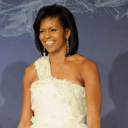 Michelle Obama in Jason Wu at the inauguration ball last night