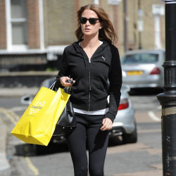 Millie Mackintosh keeps her legs trim in the Zaggora pants