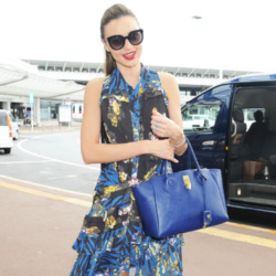 Miranda Kerr's Bold Blue Tote Bag: Get the Look
