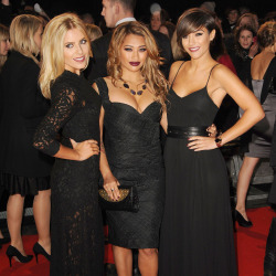 Mollie, Vanessa and Frankie all opted for black dresses last night