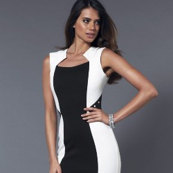 Lipsy Colour Block Studded Bodycon Dress