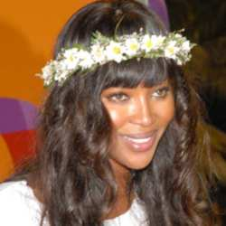 Naomi Campbell at  Badoo.com party at Rio Carnival