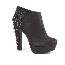 New Look Black Studded Back Ankle Boots