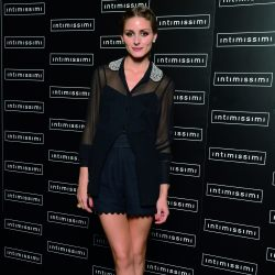 Olivia Palermo at the Intimissi show in Italy
