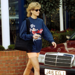 Princess Diana set the standard for cycling shorts high. Photo: PA
