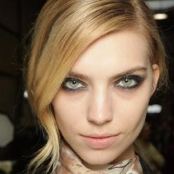 Try smoky-metallic eyes like seen at Paul Smith