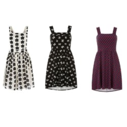 A simple pinafore dress is perfect for college