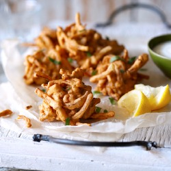 Cancer Research UK: Pink Onion Fritters Recipe