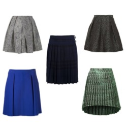 Pleated skirts are a staple for back to school fashion