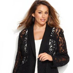 We love this lace jacket, perfect to add a stylish touch to any look