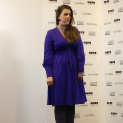 Poppy Dinsey talks at the Clothes Show Live