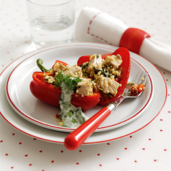 Healthy Recipe: Pork, Lime and Mint Stuffed Peppers