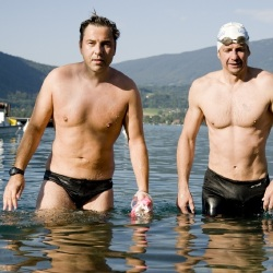 Professor Greg Whyte (right) has trained David Walliams amongst others