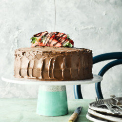 Two Layer Chocolate Fudge Cake
