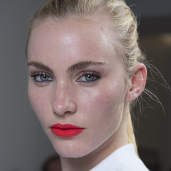 Bold lips at Richard Nicoll SS13