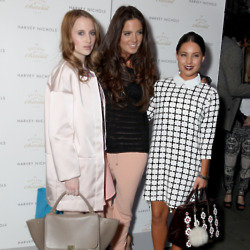 Rosie Fortescue, Binky Felstead and Louise Thompson pictured at the Baileys Easter Egg event this week