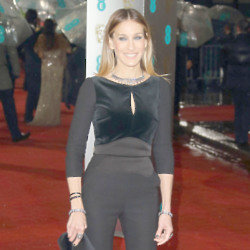 Sarah Jessica Parker looked sleek in Elie Saab