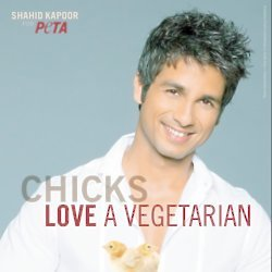 Shahid Kapoor in his PETA ad