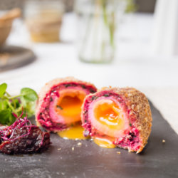 Soft Yolk Vegetarian Scotch Egg with Boddingtons Tomato Chilli Chutney