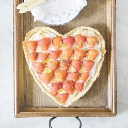 Strawberry, Ricotta and Lemon Tart
