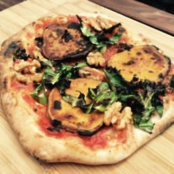 Sweet Potato, Crispy Kale and Walnut Pizza