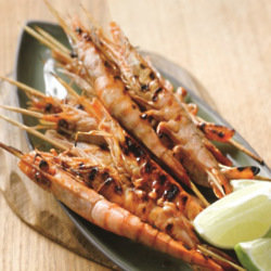 Skewered Sweet And Sour BBQ Prawns
