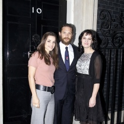 Tom Hardy and Charlotte Riley at 10 Downing Street