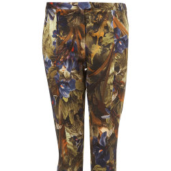 Topshop Jungle Floral Skinny Trousers