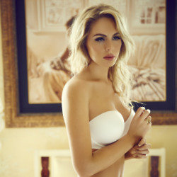Rebecca Mone models the new range from Ultimo