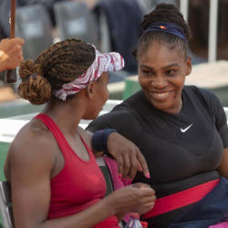 Venus Williams and Serena Williams at the French Open 2018 / Photo Credit: USA TODAY Network/SIPA USA/PA Images