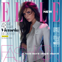 Victoria Beckham looks beautiful on the cover in Burberry