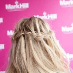 We love the waterfall braid