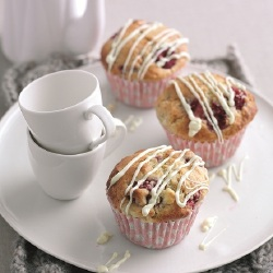 Sweet Treats: White Chocolate and Raspberry Muffins Recipe