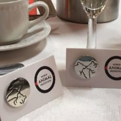 Animal Protection UK wedding favour pin badges