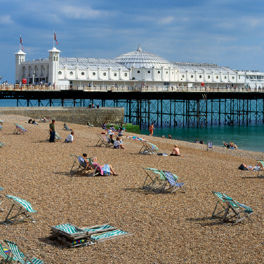 Brighton Beach in the summer