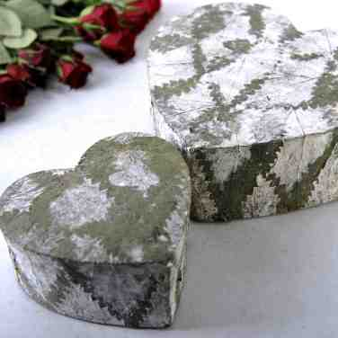 Cornish Yarg Heart Shaped Nettle Leaf-Wrapped Cheese