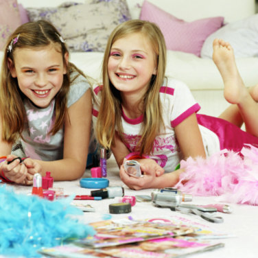 Very young girls age 12